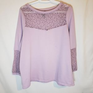 Love & Legend Light lilac sweatshirt with lace